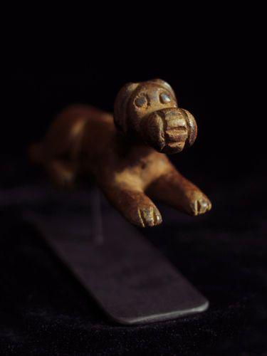 Adorable antique hand carved dog slingshot ethnic folk art from Guatemala