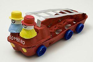 Brandweer van eierdozen