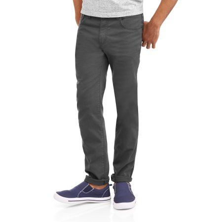 Faded Glory Men's Skinny Fit Jeans, Size: 34 x 30, Gray