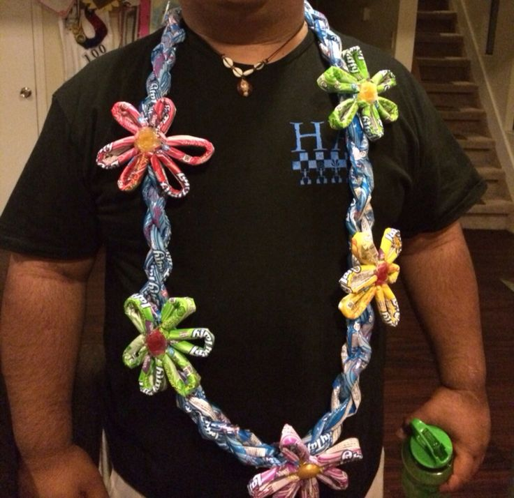 Laffy Taffy Candy Lei by Tataaz on Etsy https://www.etsy.com/listing/201105665/laffy-taffy-candy-lei