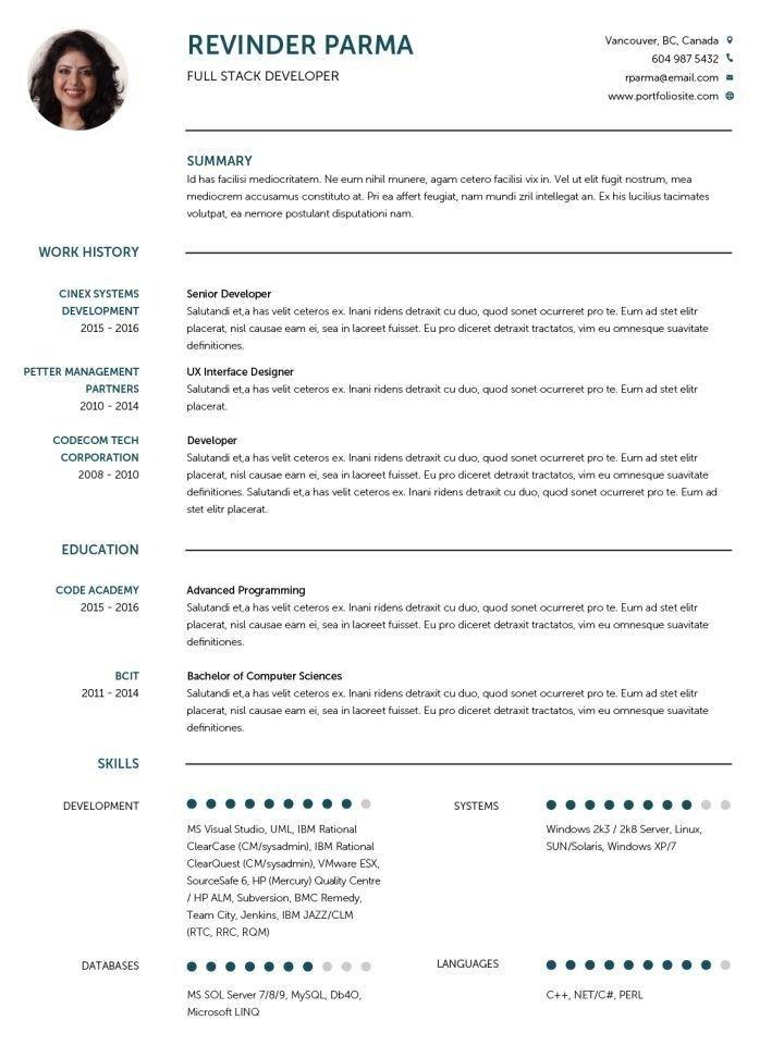 Cv Template English Cv Template Resume Templates Resume