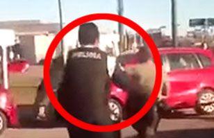 Mujer que bailaba semidesnuda en la calle provoca violenta reacción de la policía | Argentina