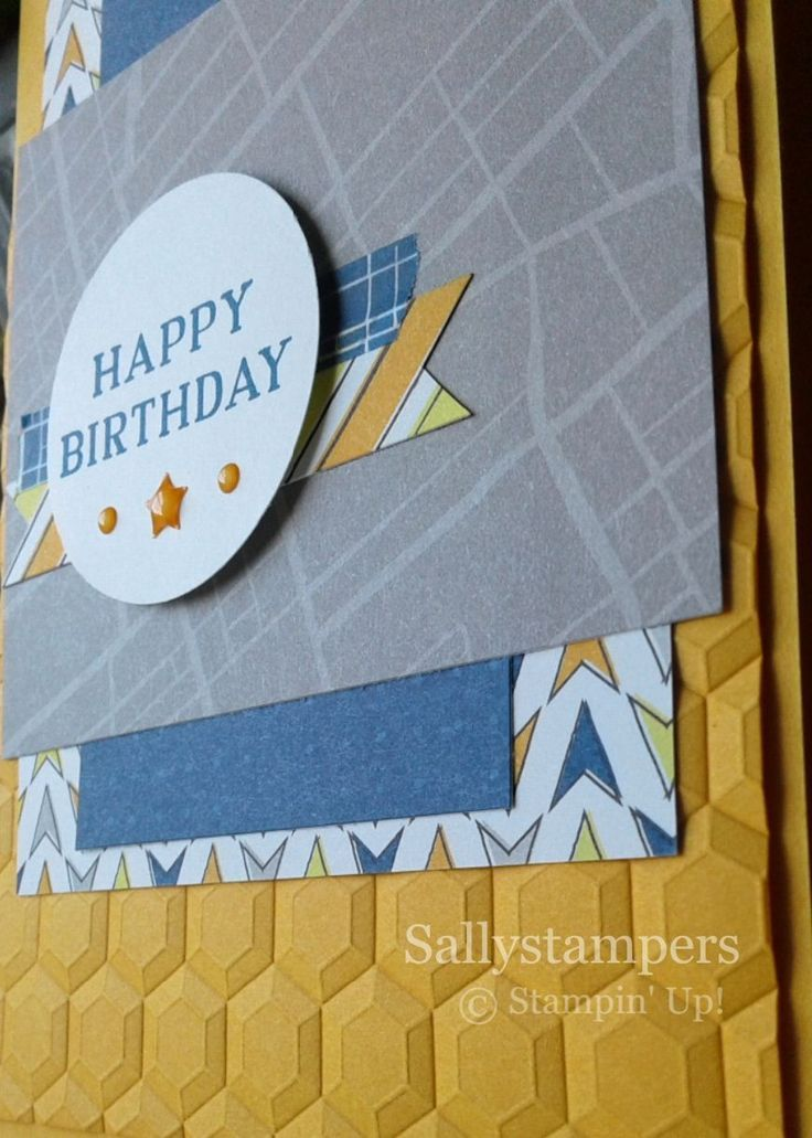 Best Route Male Birthday Hexagon Dynamic TIEF Adds Great Texture To This Card