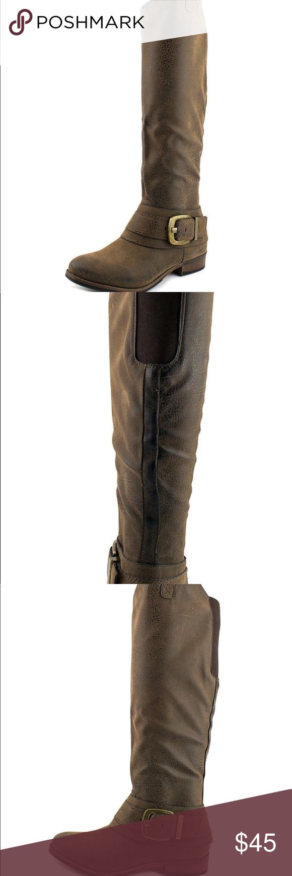 Ruff Hewn distressed brown riding boots Worn a handful of times. Comes with box 📦 Ruff Hewn Shoes Over the Knee Boots