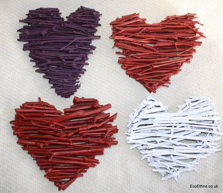The heart is made of tree twigs #ValentinesDay #Heart #workshopwithchildren