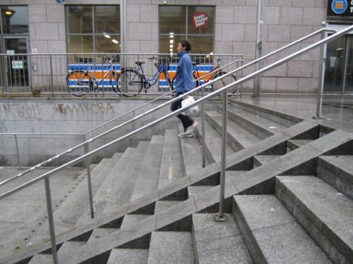 Bicycle Wheel Ramp At Stairs Grade Change Pinterest Bicycles Wheels An