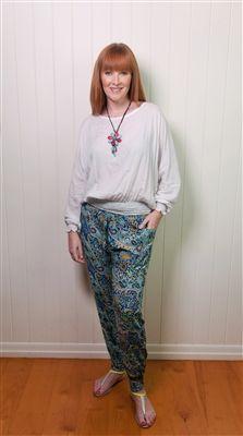 Gypsy Pants with Batwing Top #gypsy pants #batwingtop