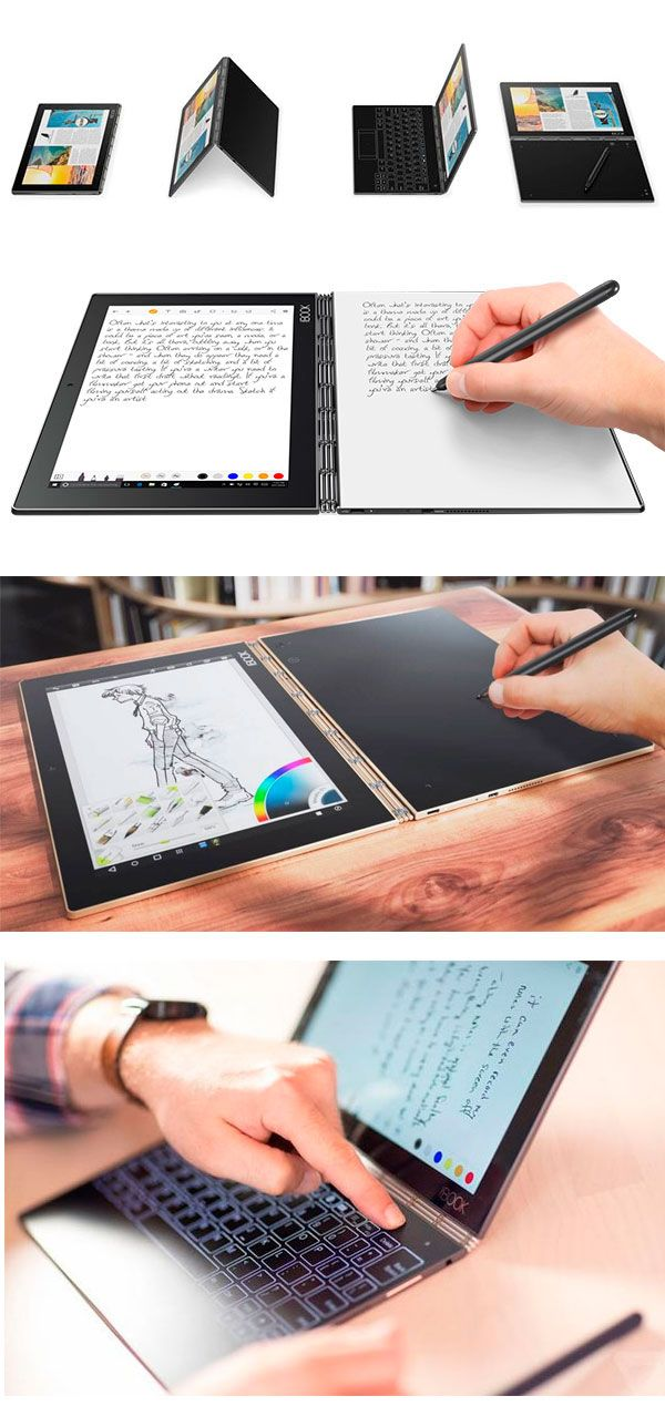 Tablet #YogaBook from #Lenovo combines real notes with digital
