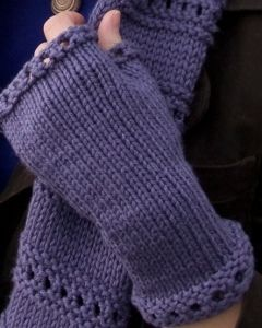 Beginner Montgomery Fingerless Mitts | FaveCrafts.com