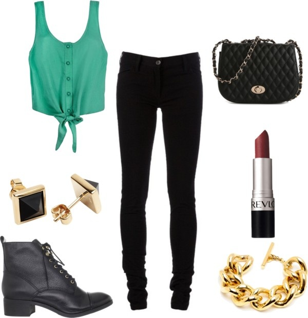 """casual bar outfit"" by jacquelinemasc on Polyvore"