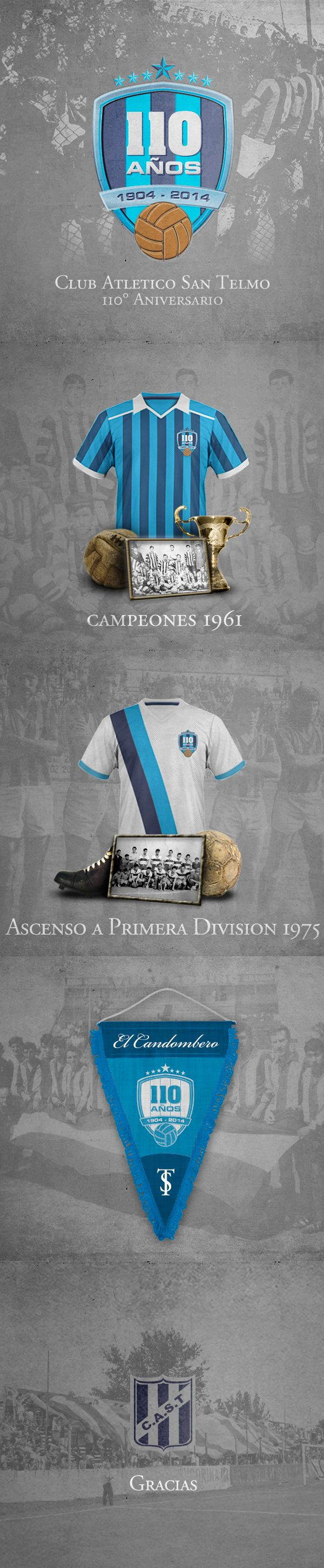 110º Aniversario del Club Atlético San Telmo on Behance