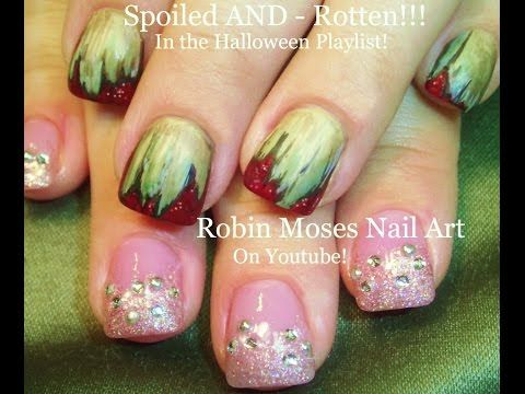 2 NAIL ART Tutorials | DIY Easy Halloween Nails | Spoiled AND Rotten - YouTube