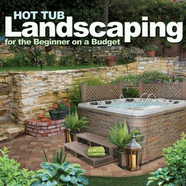 Landscape around hottub 1249 best Hot Tub