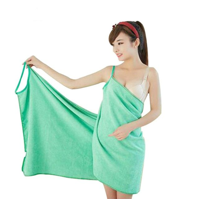 KEEPS YOU DRY /& LOOKS CUTE! WEARABLE MICROFIBER TOWEL