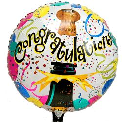 Verjaardag ballonnen - Congratulations helium ballon