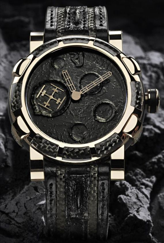 Romain Jerome's Yvan Arpa Moon Dust DNA Black Mood Pink Gold
