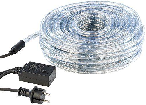 Lunartec LED-Lichtschlauch Innen- & Au�enbereich, 20 m, warmwei�, IP44