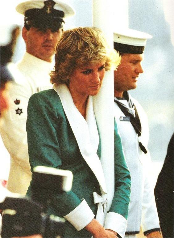 January 26, 1988: Princess Diana at the Bicentennial Celebrations at the Sydney Opera House on Australia Day.