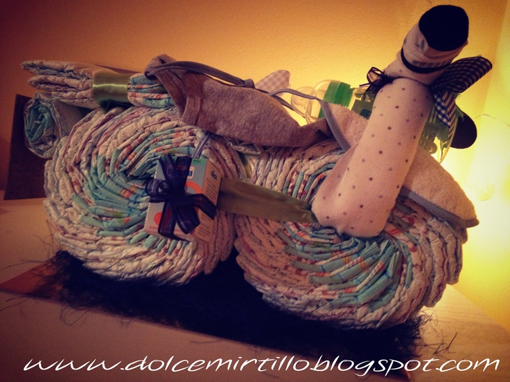 diaper motocycle! motocicletta di pannolini targata Dolce Mirtillo!