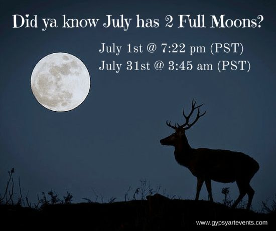 Why is the Full Moon in July referred to as the Thunder or Blue Moon?