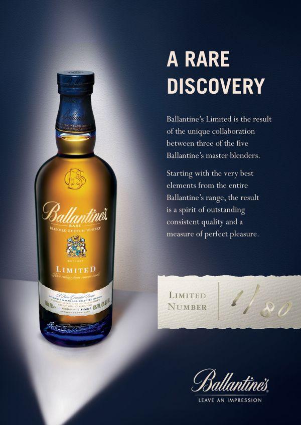 Ballantine's Whisky by Craig Minchington, via Behance