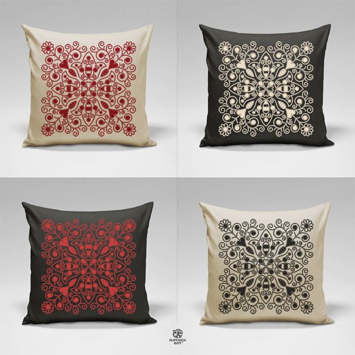 ..pillows....Slovak folk patterns from Detva