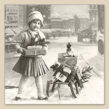Serwetka do decoupage Girl Christmas Gifts Serwetki do decoupage - sklep Decoupage Art.pl