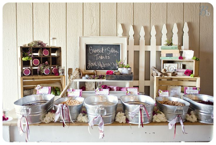 Wedding Sweet Tables Dessert Station Themes Tips Fruits: Set Up A Trail Mix Bar (nuts, M's, Mini Marshmallows