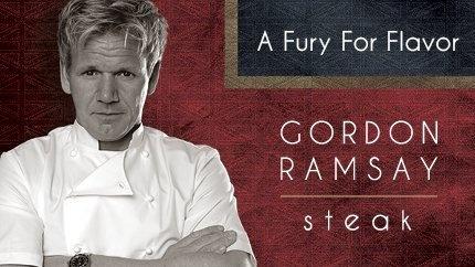 Gordon Ramsay Steak in Paris Las Vegas...I will eat in one of Chef Ramsay's restaurants someday!