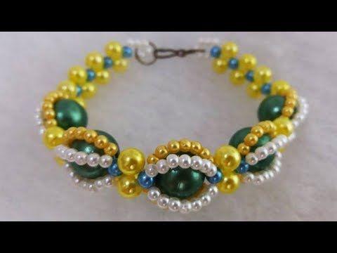 38e529583d Como fazer  Pulseira de pérolas Brasil - Adriana Valério - YouTube Seed Bead  Jewelry