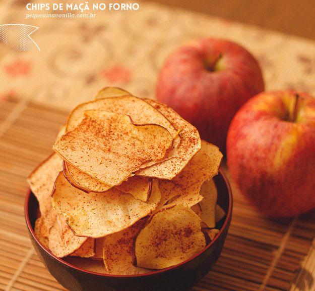 Chips de maçã no forno. | 13 receitas para comer melhor se você tem paladar infantil