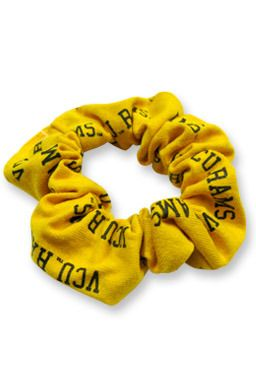 Gold scrunchy to hold your hair back on game day! $8