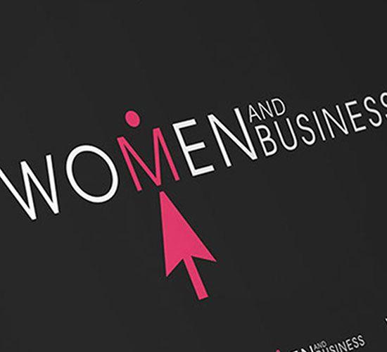 WOMEN AND BUSINESS logo design