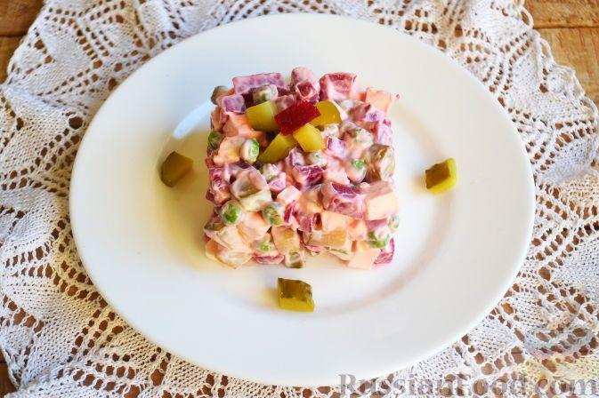 Фото приготовления рецепта: Салат со свеклой «Уплетайка» - шаг №8