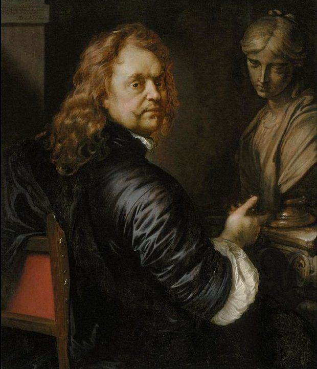 Adriaen Hanneman Zelfportret. 1669 г.