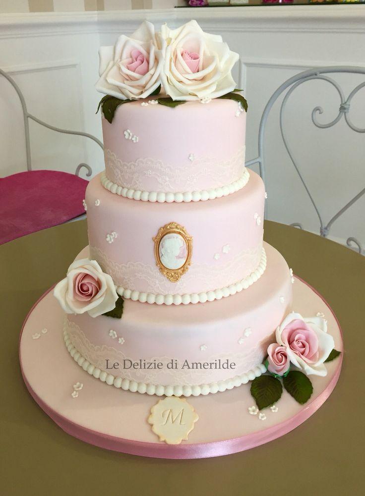 Le Delizie di Amerilde.  Romantic cake. www.ledeliziediamerilde.it