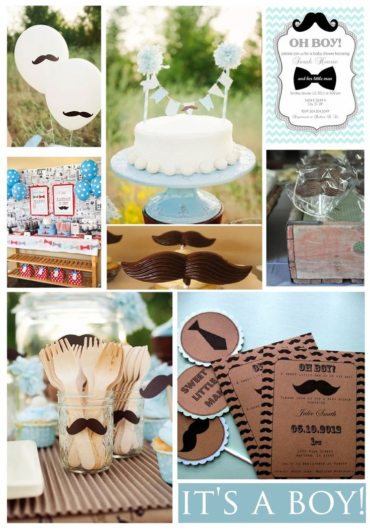 Mustache Baby Shower   Looking for a baby shower theme for a special little boy? Take a look at this post for some inspiration!