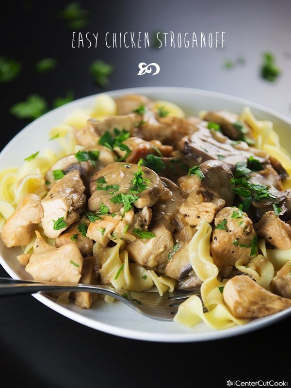 Easy Chicken Stroganoff from @CenterCutCook