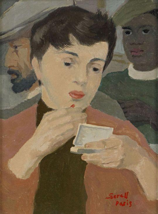 Greta Gerell - Fran au café de Flore,  Paris . 1955