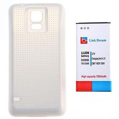TY Link Dream 3.7V 7800mAh Thickened Cell Phone Battery + Matte White Back Cover with NFC for Samsung S5 I9600 (EB-BG900BBC) TY-Mobile phone battery http://www.amazon.com/dp/B00PAH9J64/ref=cm_sw_r_pi_dp_E.Gnvb1PKP33D