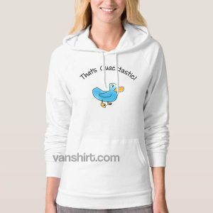 Billy Madison Hoodie That's Quacktastic Blue Duck Billy Madison Hoodies