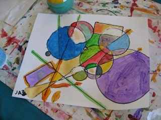 Ive done this, but its always good to have another picture to show the kids. Kandinsky Art Lesson: Shape, Color, Line, Movement, Rhythm- Music & Art