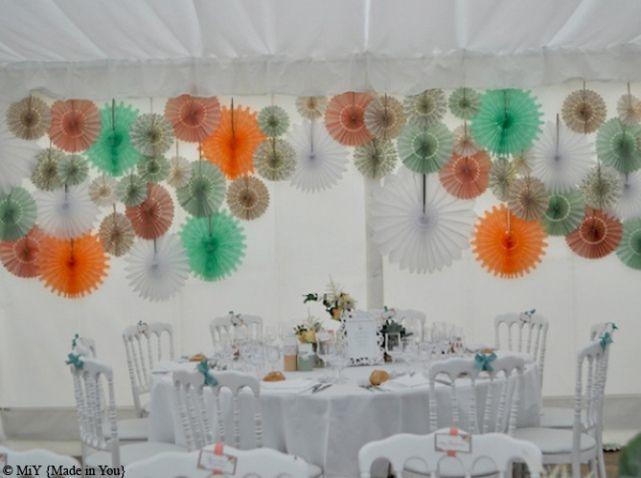 1000 id es sur le th me guirlande papier cr pon sur pinterest guirlande pap - Modele decoration mariage ...