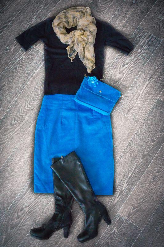 blue velvet pencil skirt #handmade #soulmade #skirt #pencilskirt #pencil
