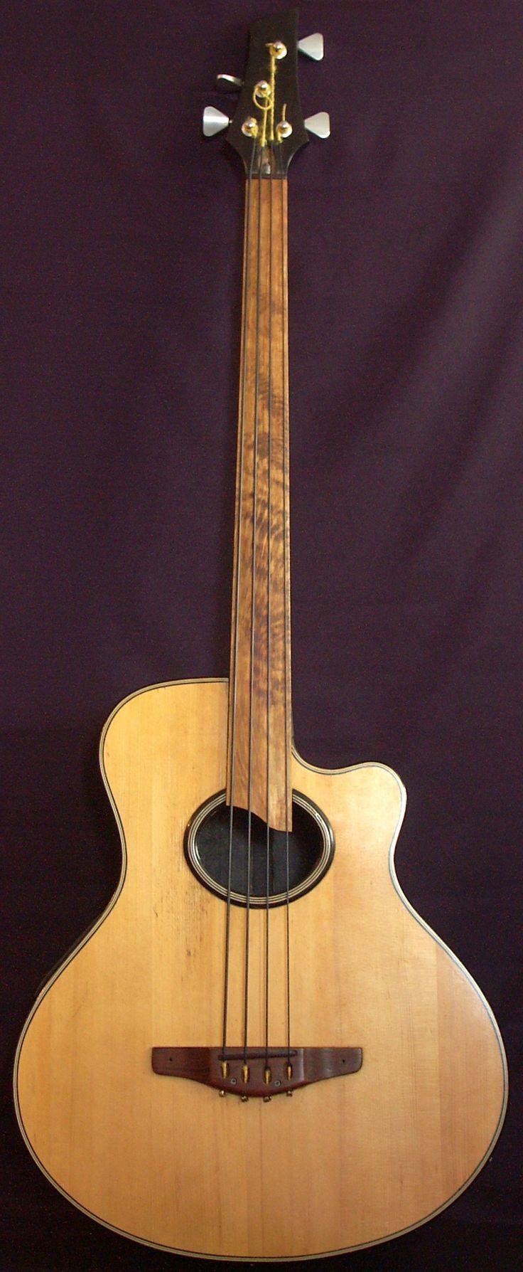 Handmade fretless acoustic Bass --- https://www.pinterest.com/lardyfatboy/