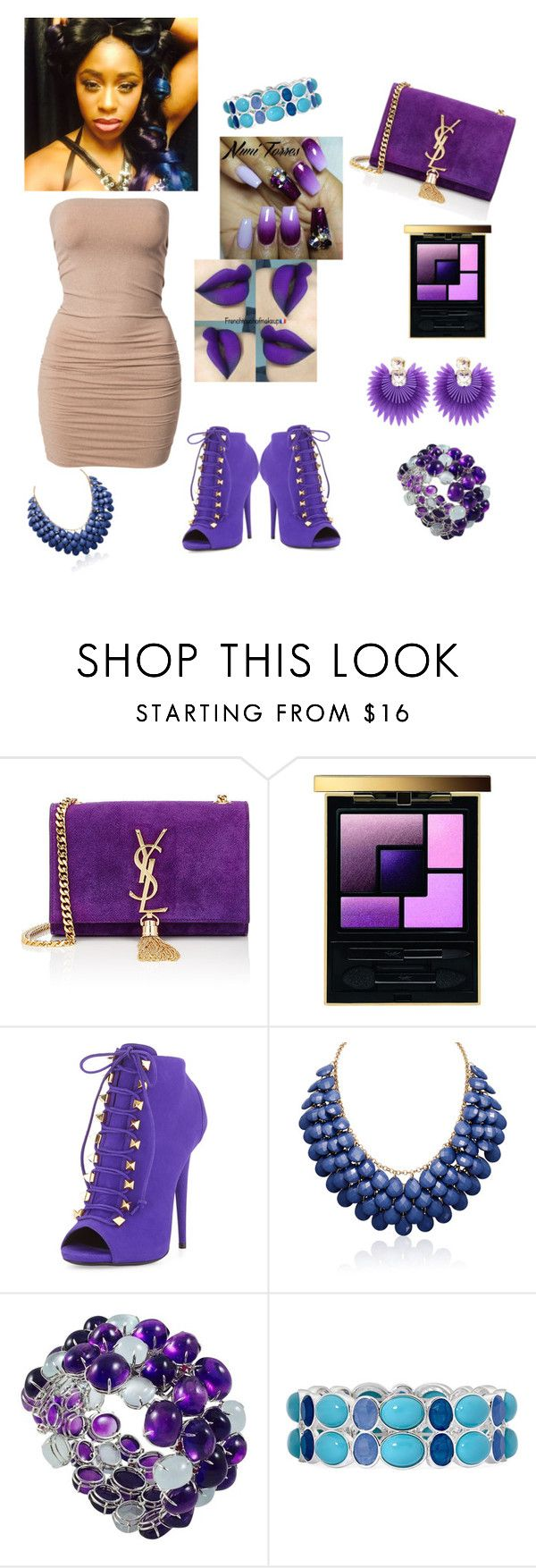 """""""WWE DIVA Collection Naomi Knight Edition"""" by im-love-with-the-cocoa-channel ❤ liked on Polyvore featuring Yves Saint Laurent, Giuseppe Zanotti, Liz Claiborne and VANINA"""