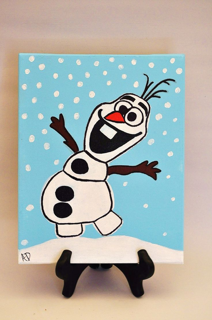8x10 Olaf Character Painting on Canvas by InspirationInColor on Etsy https://www.etsy.com/listing/222755869/8x10-olaf-character-painting-on-canvas