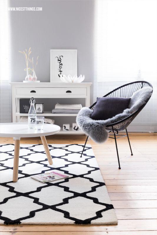 Neuer Wohnzimmerteppich, Sommerdeko von Räder & Horchata-Rezept | Nicest Things - Food, Interior, DIY: Neuer Wohnzimmerteppich, Sommerdeko von Räder & Horchata-Rezept
