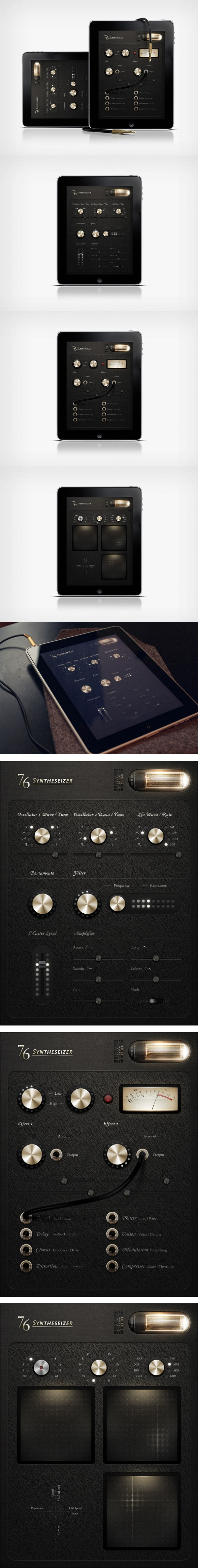 76 Synthesizer Concept by Jonas Eriksson, via Behance