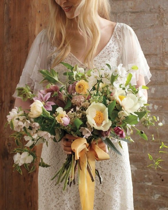 It's no secret that spring is the season for flowers. What is a secret is how to give them a twist for your celebration. For inspiration, we turned to top floral designers, like Amy Merrick and Saipua's Sarah Ryhanen, who know a thing or two about turning blooms into art. Here, their ideas for showstopping arrangements for your big day.
